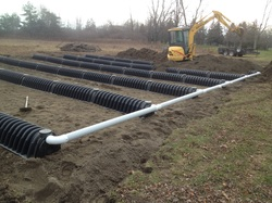 How septic tanks work legue septic services for Gravity septic field
